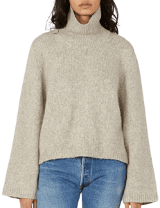 Beige Ravenna Knit Turtleneck-Totême