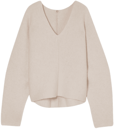 Beige Rennes Double Cashmere Shell Sweater-Toteme