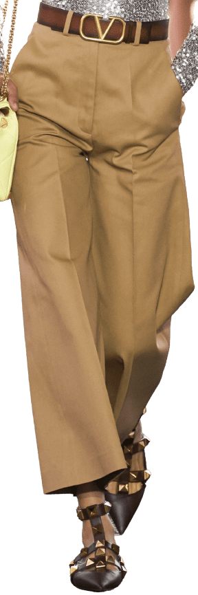 Beige Spring 2021 Wide Trousers-Valentino