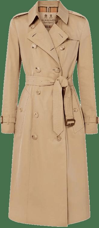 Beige The Chelsea Long Cotton-Gabardine Trench Coat-Burberry