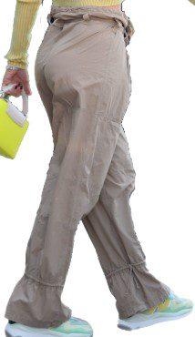 Beige Tie Ankle Wool Pants-Brunello Cucinelli