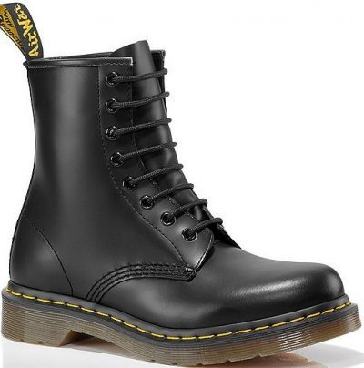 Black 1460 Smooth Leather Combat Boots-Dr. Martens