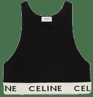 Black Athletic Knit Sports Bra-Celine