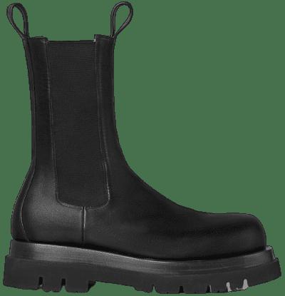 Black BV Lug Boots-Bottega Veneta