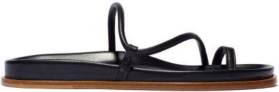 Black Bari Sandals-Emme Parsons