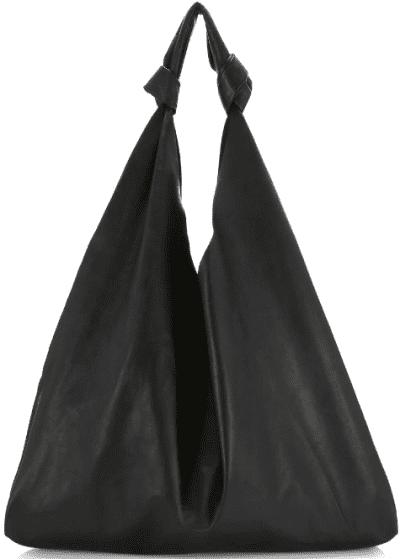 Black Bindle Two Leather Hobo Bag-The Row