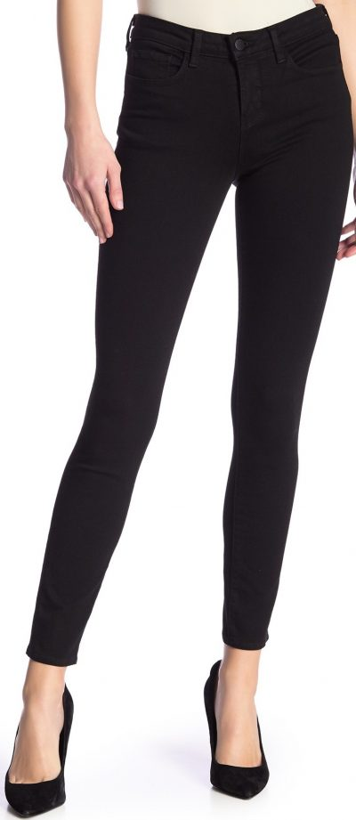 Black Brigitte Mid-Rise Skinny Jeans-L'AGENCE