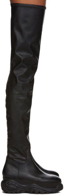 Black Buffalo London Edition Over-The-Knee Boots-032c