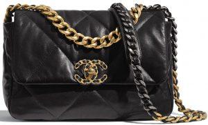 Black Chanel 19 Flap Bag-Chanel