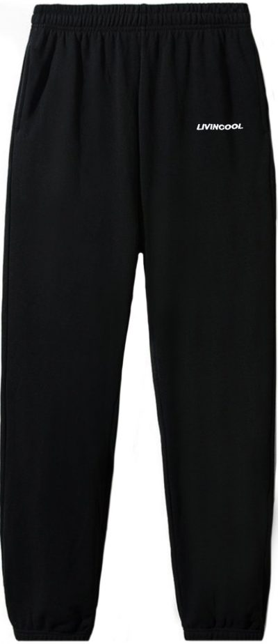 Black Classic Embroidered Sweatpants