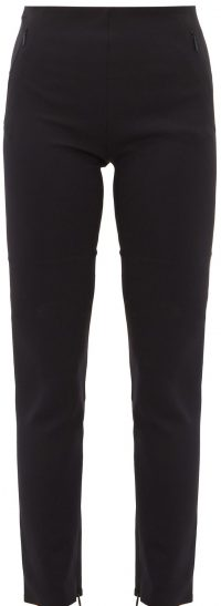 Black Corza Zipped-Hem Scuba Trousers