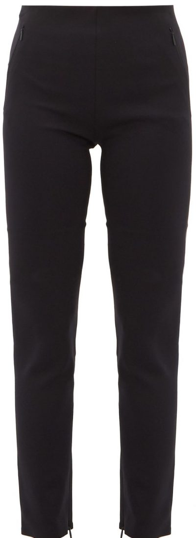 Black Corza Zipped-Hem Scuba Trousers