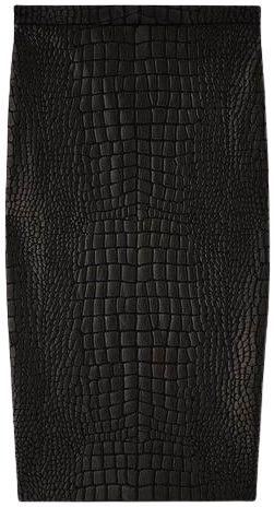 Black Crocodile Jacquard Pencil Skirt-Tom Ford