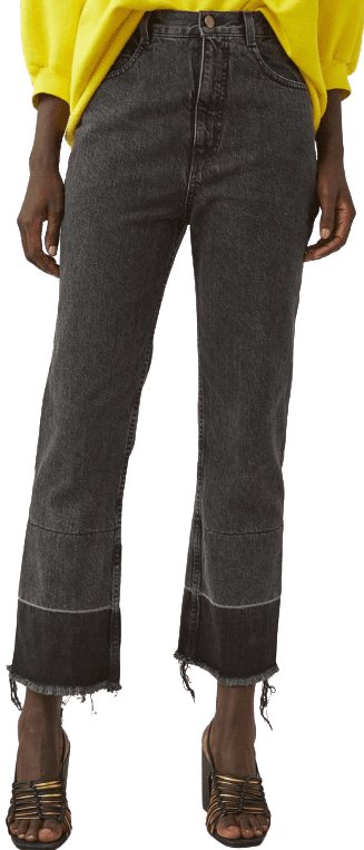 Black Denim Slim Legion Pants