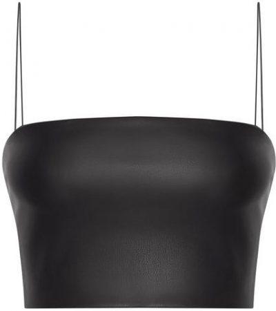 Black Dolly Crop Top-MESHKI