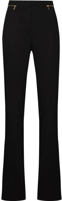 Black Flared Trousers-Versace