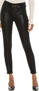Black Fog Luxe Coating Hoxton Ankle Pants-Paige