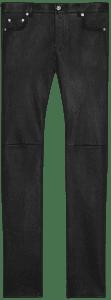 Black Grained Lambskin Skinny Pants-Saint Laurent