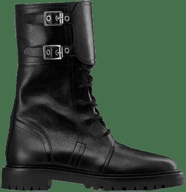 Black Ground Calfskin Boot-Dior