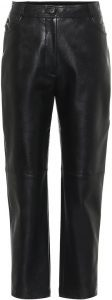 Black Hailey High-Rise Faux Leather Pants-Stella Mccartney