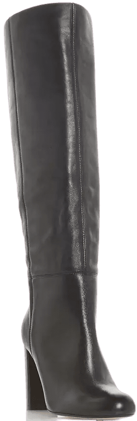 Black High Heel Knee High Boots
