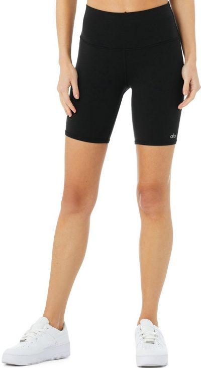 Black High-Waist Biker Short-Alo Yoga