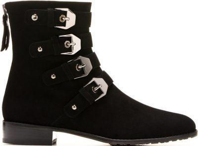 Black Jittermacho Boots-Stuart Weitzman