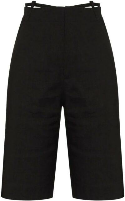 Black Le Short Gardian Straight-Cut Shorts-Jacquemus