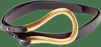 Black Loop Leather Belt-Bottega Veneta