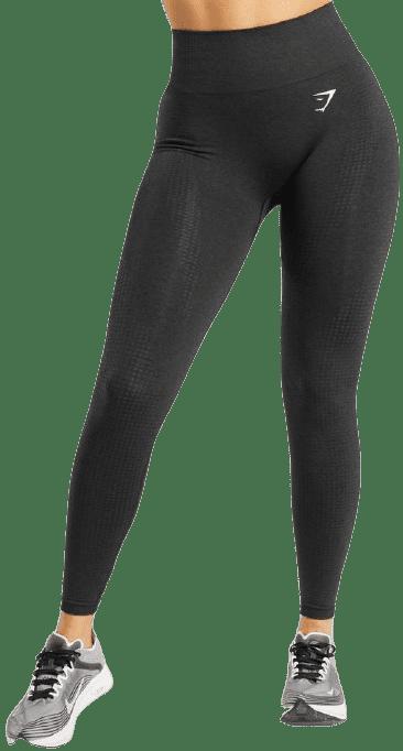 Black Marl Vital Seamless Leggings-Gymshark