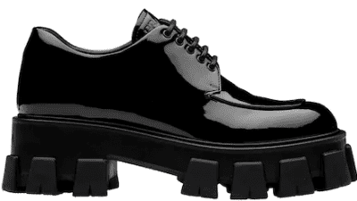 Black Monolith Patent Leather Laced Shoes
