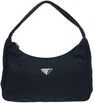 Black Nylon Mini Tessuto Shoulder Bag-Prada