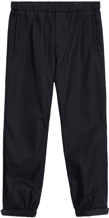 Black Nylon Pants-Prada