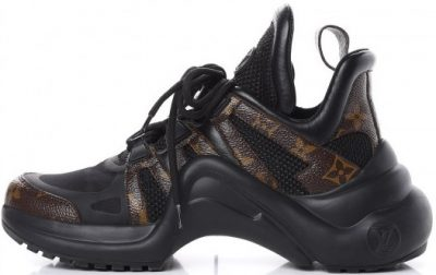 Black Patent Monogram LV Archlight Sneakers-Louis Vuitton