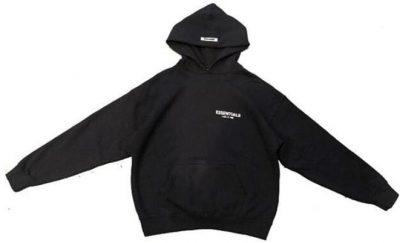 Black Photo Pullover Hoodie