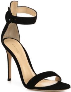 Black Portofino Suede Sandals-Gianvito Rossi