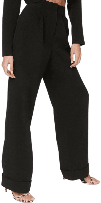 Black Power Through Wide-Leg Pants
