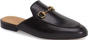 Black Princetown Loafer Mule-Gucci