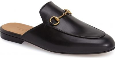 Black Princetown Loafer Mules
