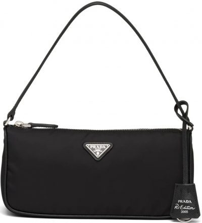 Black Re-Edition 2005 Nylon And Saffiano Leather Mini-Bag-Prada