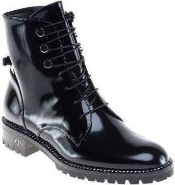 Black Rebelle Army Boot-Dior