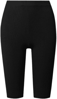 Black Ribbed Stretch-Knit Shorts-Saint Laurent