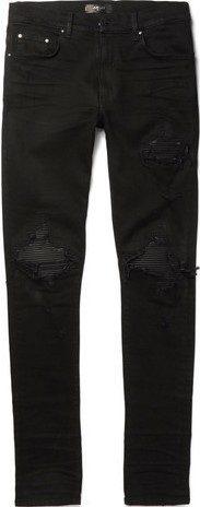 Black Ripped Skinny Jeans-Amiri