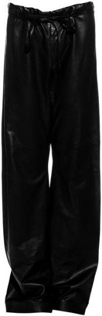 Black SS 2001 Lambskin Wide-Leg Pants By Tom-Ford Gucci