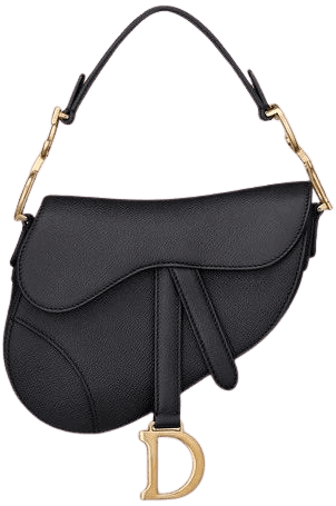 Black Saddle Bag-Christian Dior