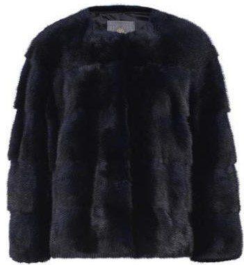 Black Sarah Mink Fur Jacket