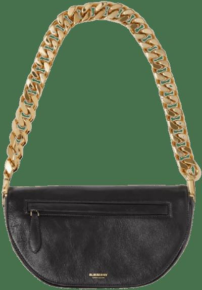 Black Small Lambskin Olympia Bag-Burberry