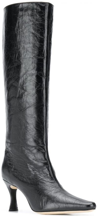 Black Stevie 42 Textured 80mm Boots-By Far