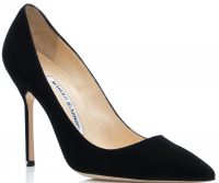 Black Suede Pointed Toe-Pumps