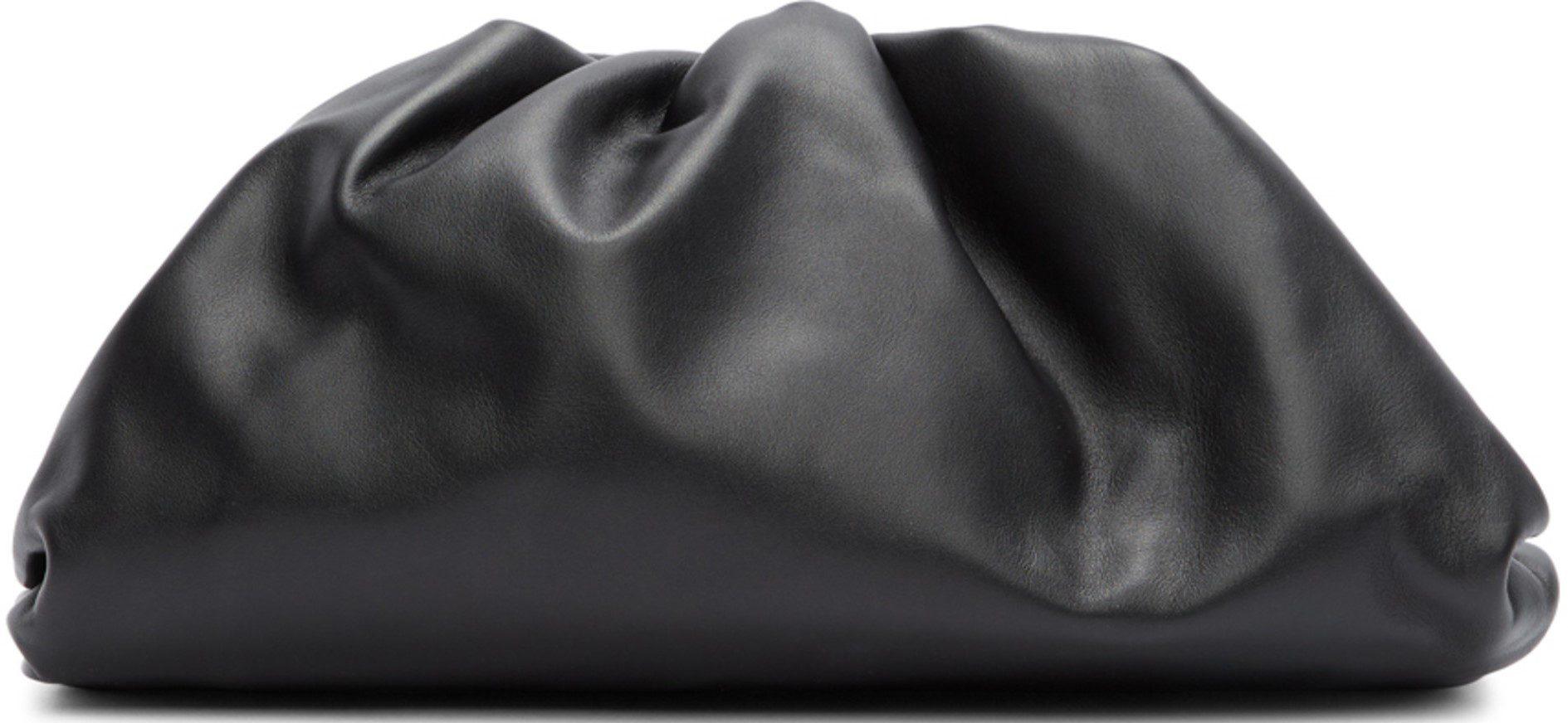 Black The Pouch Clutch-Bottega Veneta